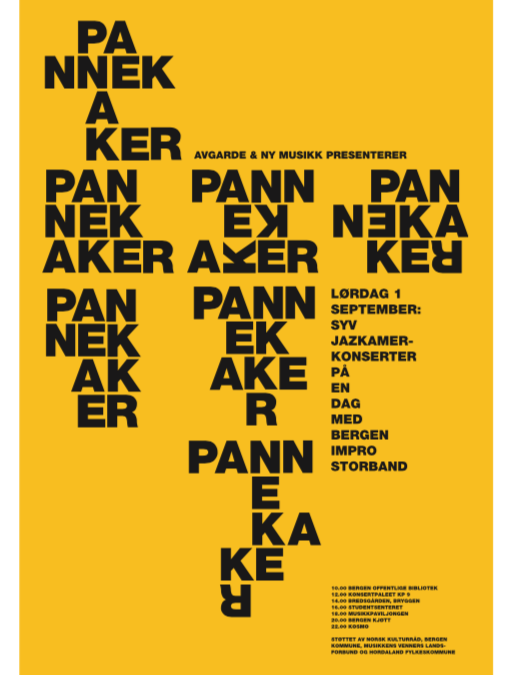 Pannekaker, in collaboration with Jazkamer, Avgarde & nyMusikk Bergen